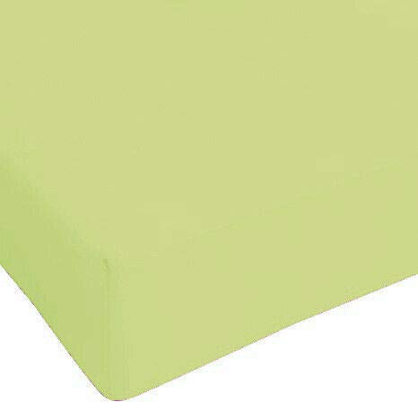 DEMONA Lenzuola sotto con Angoli Maxi IRGE Singolo Piazza E Mezza Vari Colori Offerta Elastico Copri Materasso (Verde, Piazza E Mezza)