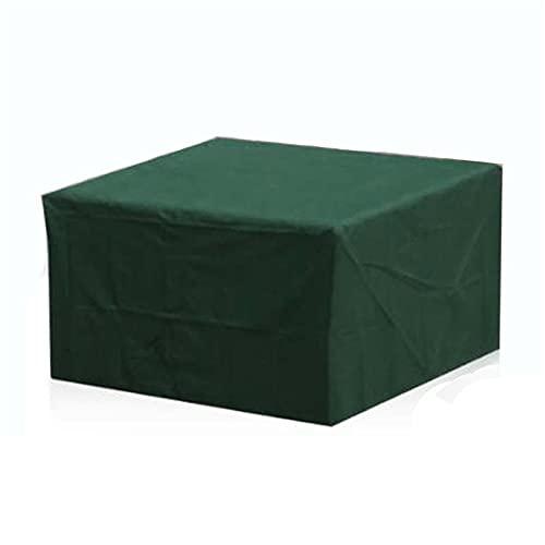 XJHKG Funda para Muebles De Jardín, Impermeable Resistente Al Polvo Protección Cubierta De Mesa De Jardín (Verde,315x160x70cm)