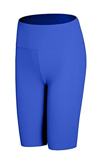 JOPHY & CO Damen-Leggings über dem Knie, kurz, elastisch, unter der Kleidung (Cod. 9821), Königsblau, L
