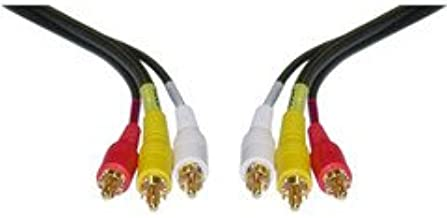 PcConnectTM Stereo/VCR RCA Cable, 2 RCA (Audio) + RCA RG59 Video, Gold Plated, 12 feet Cable