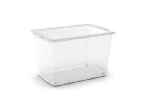KIS Clear Omni Box Storage Box, 63-Quart/60-Liter (4 –Pack)