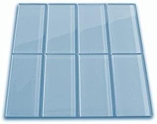 Sky Blue Glass Subway Tile 3