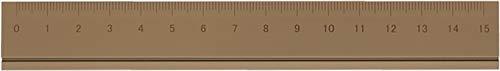 アルミルーラーS 定規 線引き シンプル 0cm表記付き カッター定規 ギフト 15cm アルミ製 ブラウン DAR-2802 スリップオン