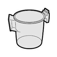 シャープ[SHARP] シャープサイクロンクリーナー用ダストカップ(217 137 0234) 【2171370234】