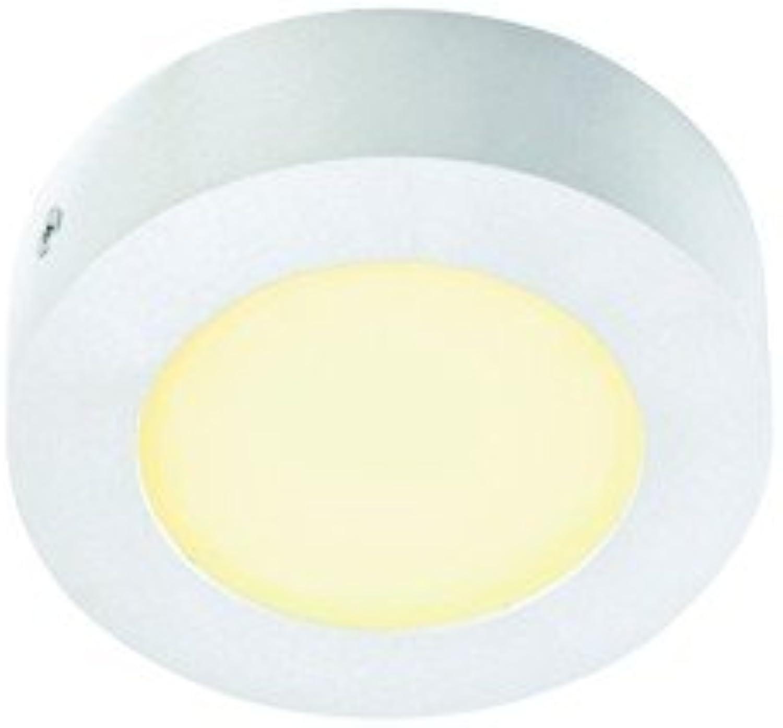 LED Wandleuchte SENSER Deckenleuchte, rund, 6W, SMD LED, 3000K, wei EEK  A++ - A