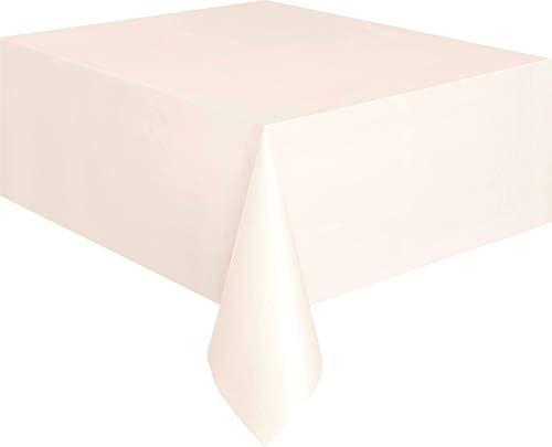 Kunststoff-Tischdecke, 2,74 x 1,37 m, elfenbeinfarben, Einheitsgröße