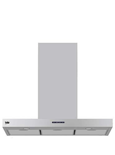 Beko HCB91731BX Campana decorativa 90 cm de ancho, 56 W, Acero Inoxidable