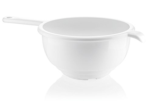 Guzzini Forme Casa 120153-11 Colapasta con Manico, Plastica, Bianco, Diametro 24 cm