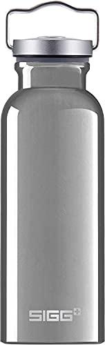SIGG Original Alu Trinkflasche (0.5 L), schadstofffreie und besonders auslaufsichere Trinkflasche, federleichte Trinkflasche aus Aluminium
