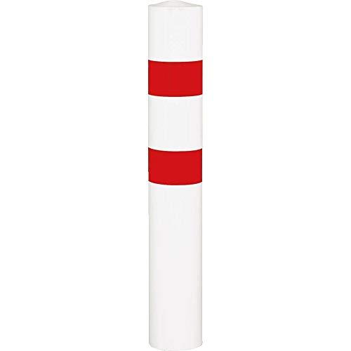ROBUSTO Rammschutzpoller XXL, zum Einbetonieren, rot/weiß, Stahl, Ø 15,9 cm aus Stahl