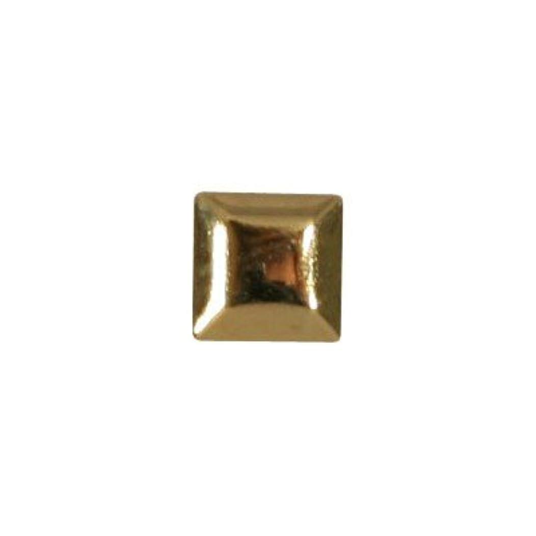 認証ファン正気ピアドラ スタッズ メタルスクエア 3mm 50P ゴールド