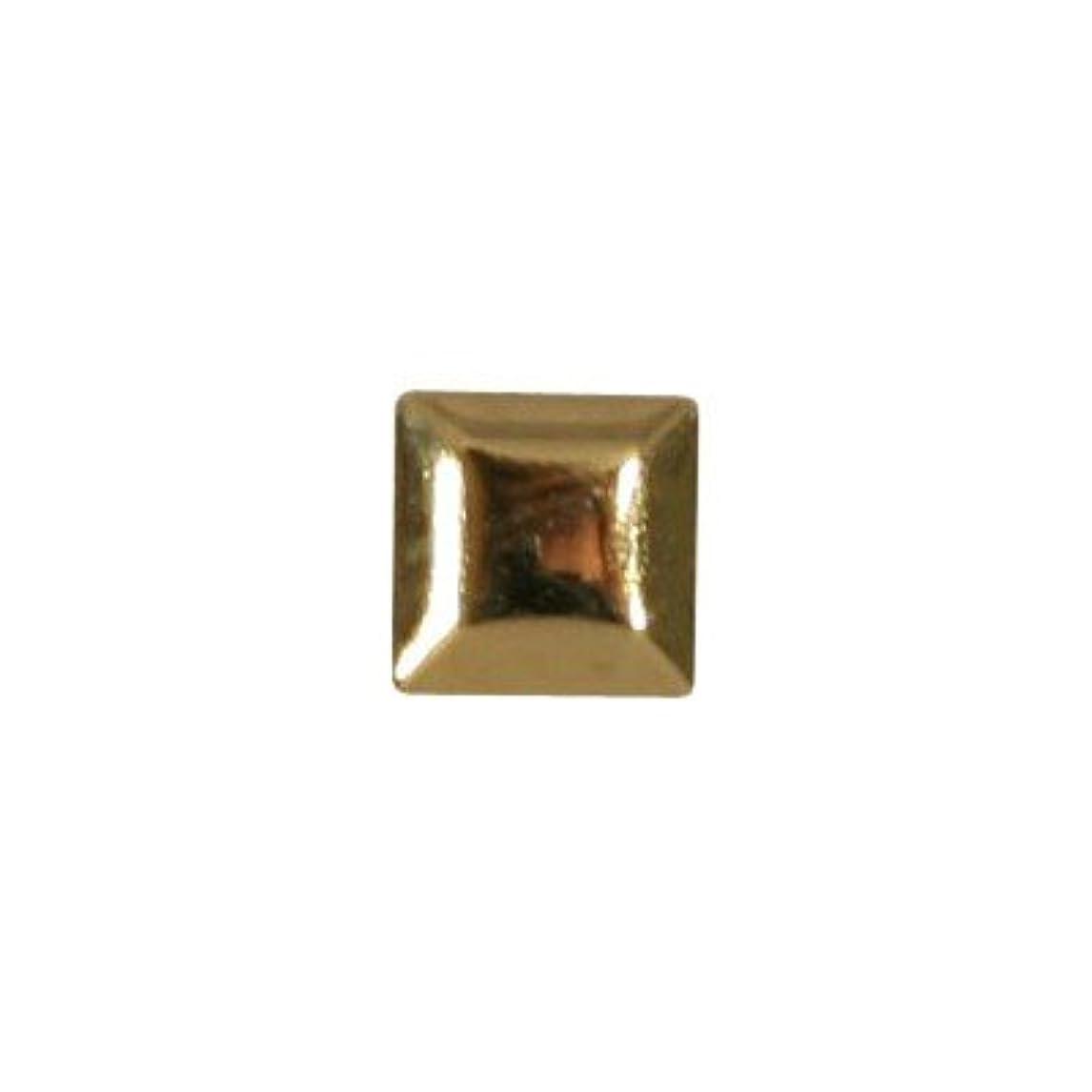 ジャンク頭痛面白いピアドラ スタッズ メタルスクエア 3mm 50P ゴールド