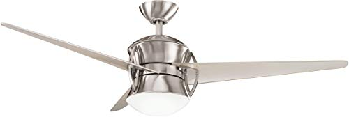"Kichler 300125BSS, Cadence Brushed Stainless Steel 54"" Ceiling Fan w/Light & Remote Control"