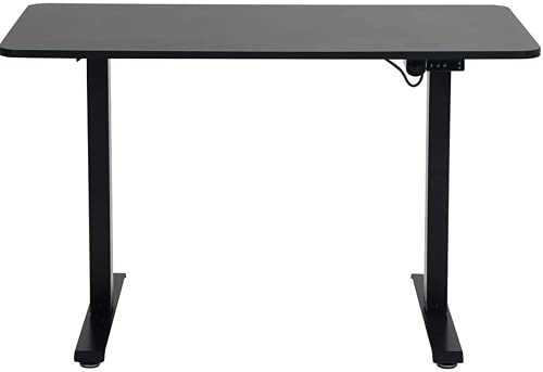 SpassWay TMS Series - Escritorio eléctrico (altura regulable, con placa de mesa, 1200 x 600 mm, carga máxima de hasta 80 kg, arranque y parada suave), color negro