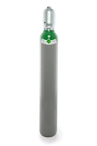 Argon 4.8 10 Liter Flasche/NEUE Gasflasche (Eigentumsflasche), gefüllt mit Argon 4.8 (Reinheit 99,9998%) / 10 Jahre TÜV ab Herstelldatum/EU Zulassung/PROFI-Schweißargon WIG,MIG - made in EU
