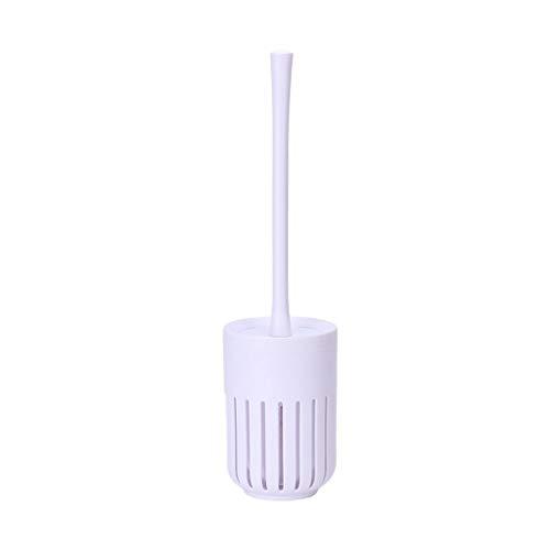 Toilet Brush Toilet Brush and Bracket, Bathroom Long Handle Cleaning Brush, Spherical Nylon Brush Head, Strong Cleaning Power, Replaceable Brush Head Toilet Bowl Cleaning Brush Set ( Color : White )