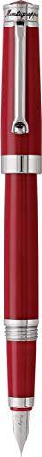 MONTEGRAPPA Collezione PAROLA Penna Stilografica, Rosso Amarone - Punta Media - Made in Italy. Linea Classica Semplice Pratica Artigianale Essenziale
