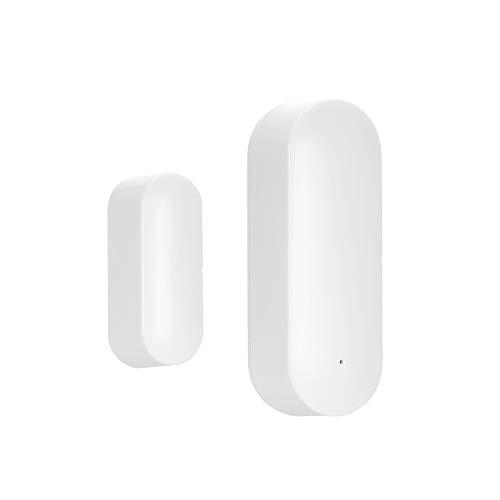 OWSOO Sensor de Puerta y Ventana WiFi Inalámbrica, Sensor de Puerta Inteligente, Funciona con Amazon Alexa/Google Assistant/IFTTT o Rokid