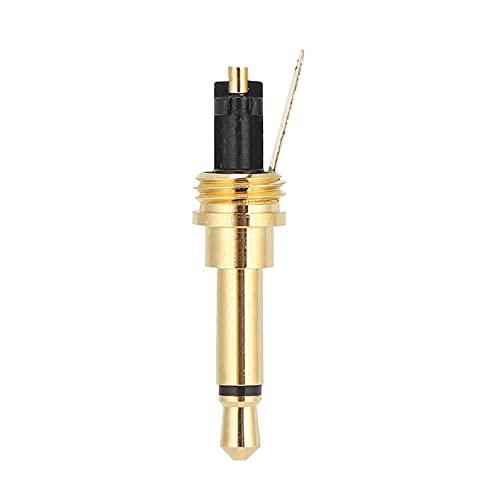 BOTEGRA Enchufe para Auriculares, Enchufe de Repuesto para Auriculares, Carcasa de Aluminio chapada en Oro para Sistemas de megafonía para Karaoke