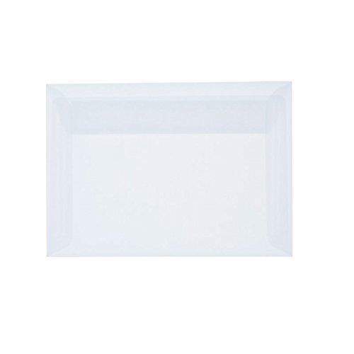 Paper24 transparente Briefumschläge mit Haftstreifen B6: 12,5 x 17,5 cm - 100 g/m² - 25 Stück