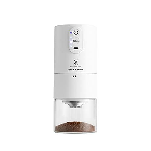 Przenośne elektryczne gospodarstwo domowe mini espresso USB- Akumulator automatyczna ekspres do kawy z regulowaną COARSEN 2000MAH (Color : USB c9ffee grinder)