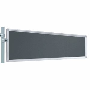 Franken Präsentations-Stellwand 30x120 cm grau/Filz