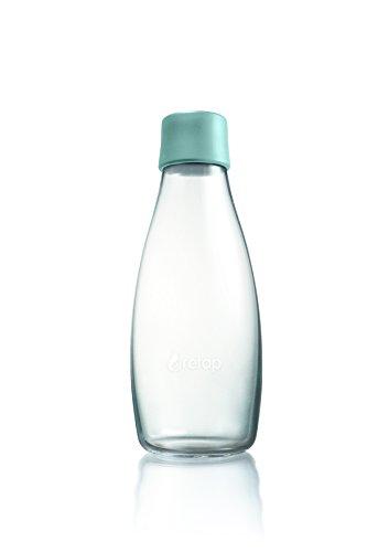 Retap Borosilikatglas Wasser Flasche, Mint blau, 0,5Liter/mittel