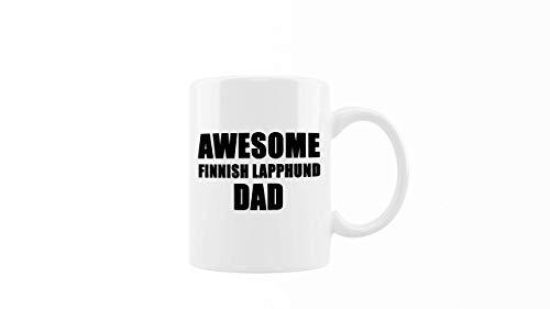 N\A Taza de café - Awesome Finnish Lapphund Dad - Regalo Genial y Divertido para Amantes de los Perros, Familiares y Amigos