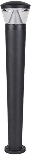 Columna de Metal Cuadrado Post Light Impermeable Impermeable Al Aire Libre Político Pilar Lámpara Decoración para el hogar Villa Garden Wall Sconence Linterna Iluminación de Seguridad BJY969