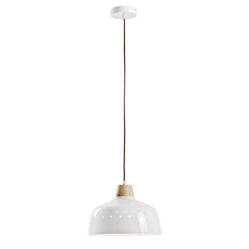 Kave Home - Lámpara de techo Bits blanca de 1 bombilla de