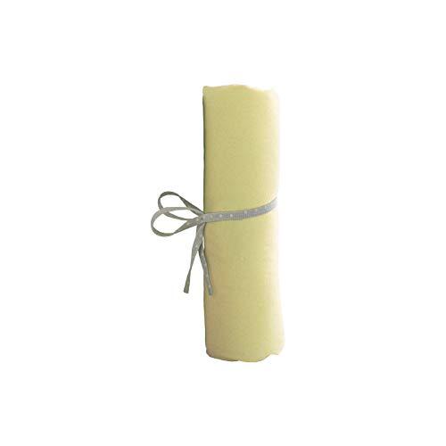 Alfred & Cie – Sábana bajera de punto amarillo 60 x 120 cm