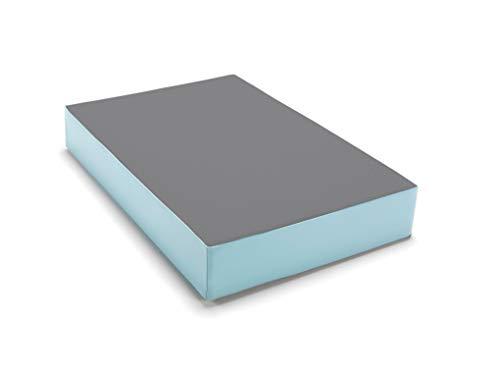 traturio Hüpfmatratze in tollen Farben für alle kleinen Hüpfer 107x70x17 cm (Mittelgrau/eisblau, 107.00)