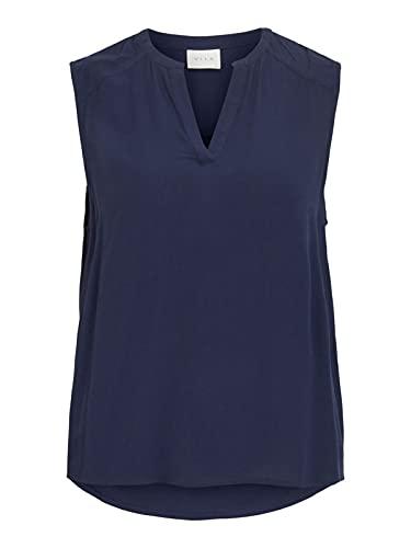 Vila VIMOASHLY V-Neck S/L TOP/SU, Navy Blazer azul 40