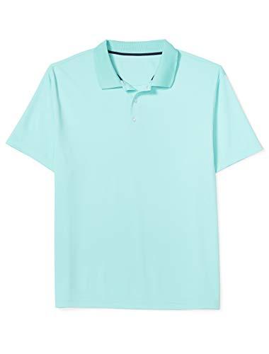 Amazon Essentials Men's Big & Tall Quick-Dry Golf Polo Shirt fit by DXL, Aqua, 3X Tall