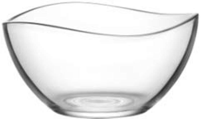 Vira 63 5 Ounce Glass Serving Bowl Beautiful Wavy Design Thick Durable Glass For Salads Desserts Fruit And More Microwave And Dishwasher Safe 8 2 X 4 5