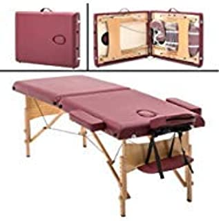 Portable Massage Table Massage Bed Spa Bed Height Adjustable Massage Table 2 Folding Massage Bed 73 Inches Spa Bed Facial Cradle Salon Bed W/Carry Case