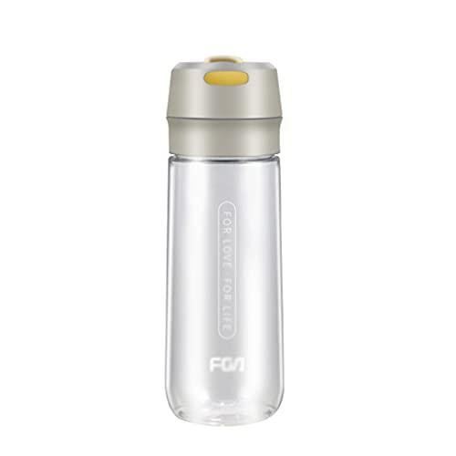 LMG Botella 20 oz, Botella de Agua de Gran Capacidad, Copa de Agua Transparente de plástico es una Buena opción para al Aire Libre portátil (Color : White)