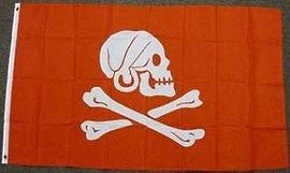 LuxMart 3'x5' Henry Avery RED Jolly Roger Pirate Flag Skull Crossbones Death Bones 3X5