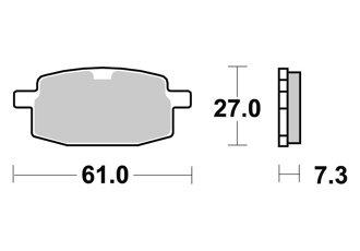 BREMSBELAGE VORNE AP RACING SKYTEAM ST 125 2006-2008