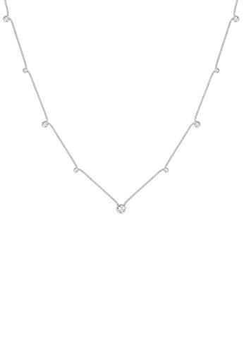 Elli Halskette Solitär Basic Kristalle Chic 925 Silber