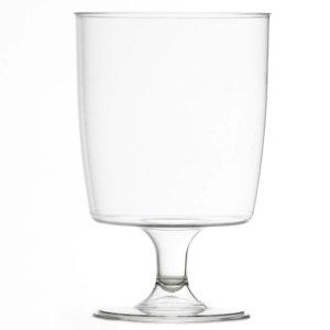 100 copas de plástico para vino (200 ml), ideal para picnics, acampada y festivales, piscina, barbacoa, jardín y ocasiones especiales, paquete de 100 vasos con 4 posavasos