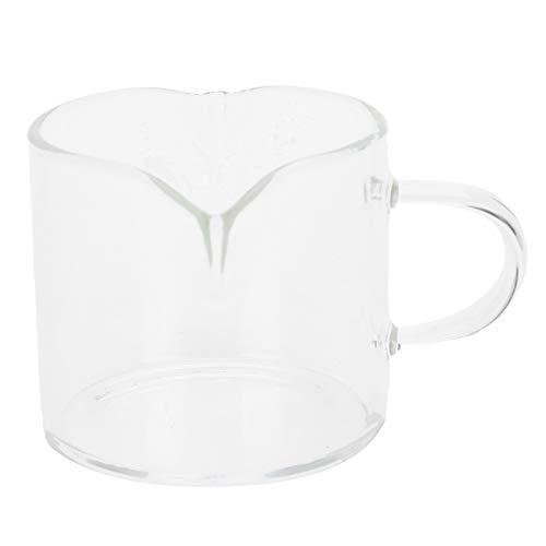 BTER Tazas de café, Mini Taza medidora de Vidrio Durable Fácil de agarrar Resistente al Calor para cocinar para Hornear