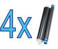 4x Panasonic KX-FA52X Compatible Thermal Transfer Roll Fax Films For KX-FP205 KX-FP215 KX-FC225 KX-FC255 - 4 Roll Pack