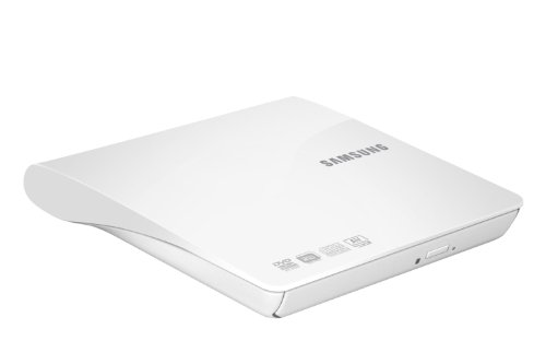 Samsung SE-208DB externer DVD Brenner (8X DVD±RW, 24x CD-ROM, 24x CD-RW, 5X DVD-RAM, 6X DVD±R Dual Layer, USB 2.0) weiß