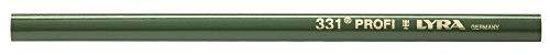 Lyra 331 Steinhauerstift (12 Stück), Länge 24 cm, oval, Bleistift für Stein/Beton, bruchfeste Miene – 4312101, mehrfarbig