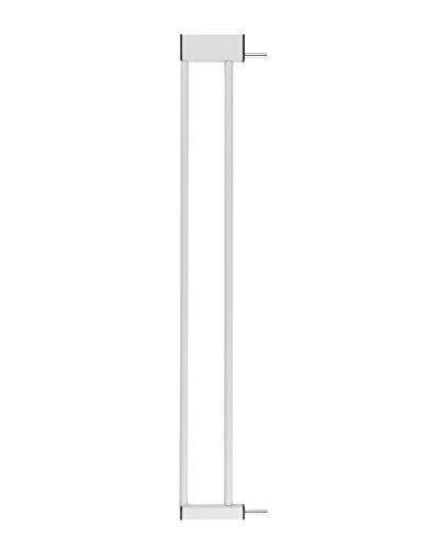 BOMI Zubehör für Schutzgitter aus Metall | Größen: 10-70 cm | Stiegengitter Verlängerung | Kindersicherung in Weiß | Tür- & Treppenschutzgitter für Babys, Kleinkinder & Tiere | 10 cm Verbreiterung
