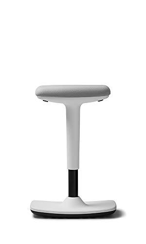 Trendoffice to-Swift, ergonomischer Stehsitz/Hocker mit Wippfunktion, Stehhilfe, höhenverstellbar, modernes Design, Homeoffice, by Dauphin (White)