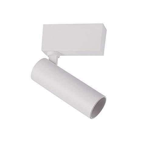 Led-railverlichting van aluminium voor het plafond, vervangt moderne halogeenlampen, magnetische detectielicht, spot50, 10 W, 1 m, zwart cool wit