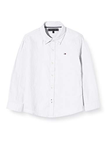 Tommy Hilfiger Jungen Essential Twill Oxford Shirt L/s Hemd, Weiß (White Yaf), 86
