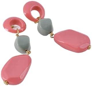 حلق فلافي كشمير للسيدات حجرأكريلك اللامع بجودة عاليه